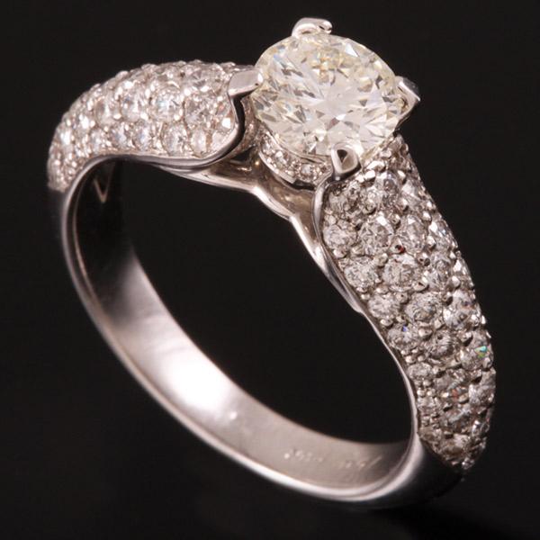 טבעת אירוסין שכבת יהלומים