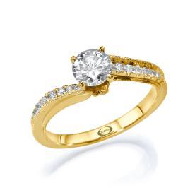 טבעת אירוסין וינטאג רומנטית