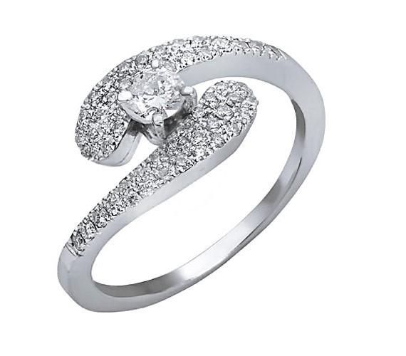 טבעת אירוסין בצורת גל