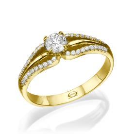 טבעת משובצת בסגנון וינטאג
