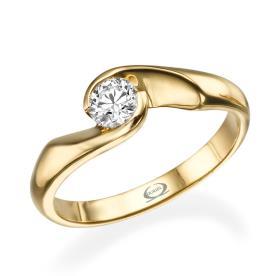 טבעת אירוסין בעיצוב סימטרי עדין
