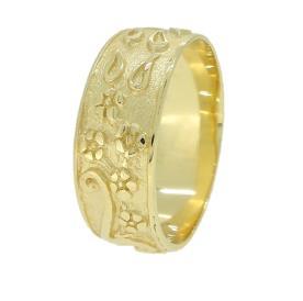 טבעת עם חריטות רומנטיות