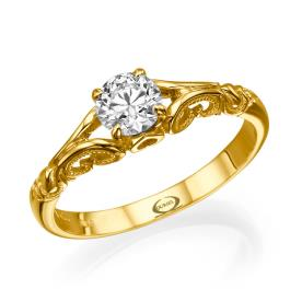 טבעת אירוסין בסגנון וינטאג