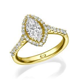 טבעת מרשימה בסגנון וינטאג