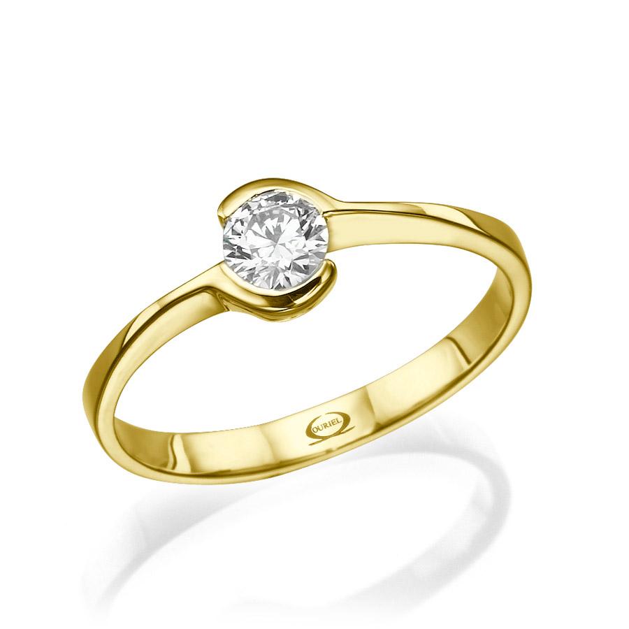 טבעת אירוסין בעיצוב עדין ורומנטי