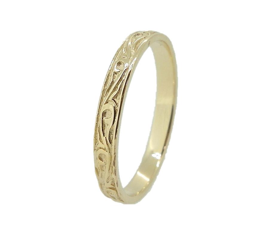טבעת צרה בעיצוב עדין