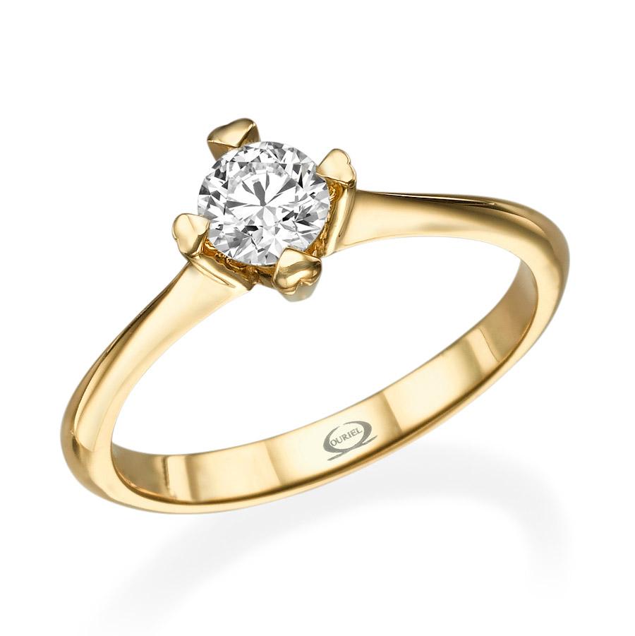 טבעת סוליטייר עדינה לכלה