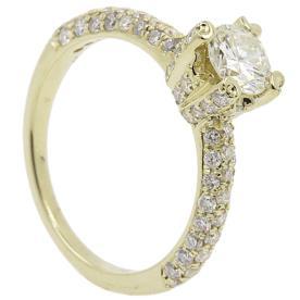 טבעת אירוסין זהב צהוב בהיר