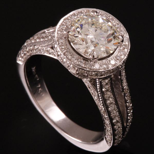 טבעת אירוסין יהלום עגול