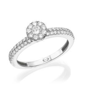 טבעת אירוסין נוצצת קלאסית