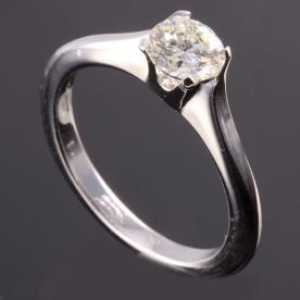 טבעת אירוסין זהב לבן ויהלום קלאסי