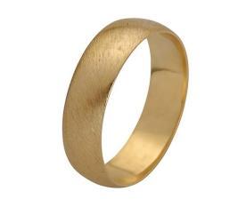 טבעת נישואין זהב צהוב מחוספס