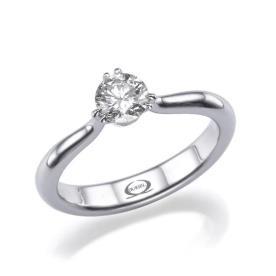 טבעת אירוסין יהלום אחד עגול