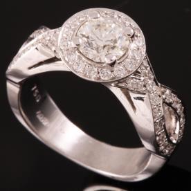 טבעת אירוסין יהלום עגול גדול