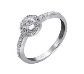 טבעת אירוסין עיגול יהלומים