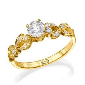 טבעת אירוסין בסגנון גלי