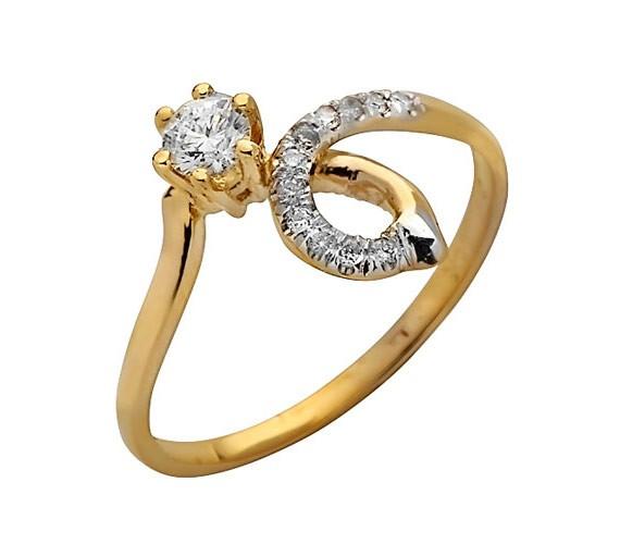 טבעת אירוסין זהב צהוב מפותל