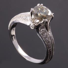 טבעת אירוסין בסגנון וינטאג'