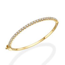 צמיד זהב משובץ יהלומים