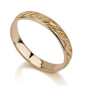 טבעת נישואין ריקוע רומנטי