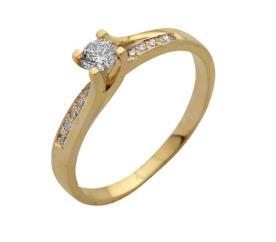 טבעת אירוסין אסימטרית עדינה