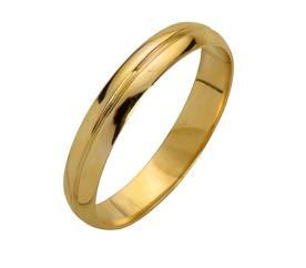 טבעת נישואין עדינה מזהב צהוב