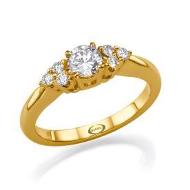 טבעת סוליטייר בעיצוב וינטאג