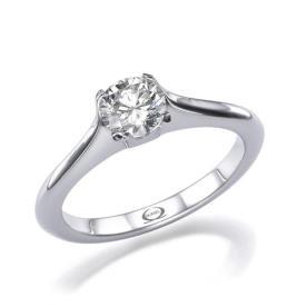 טבעת אירוסין סוליטייר יהלום מונמך