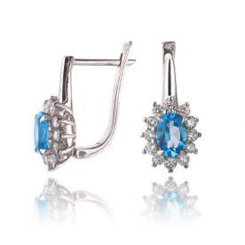 עגילי יהלומים בסגנון וינטאג