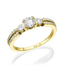 טבעת אירוסין מהודרת עם יהלומים