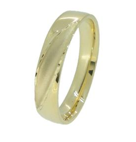 טבעת משולבת מט ומבריק