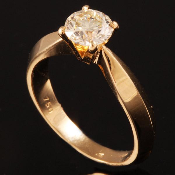 טבעת אירוסין עבה זהב צהוב