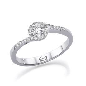 טבעת סוליטייר בעיצוב מעודן