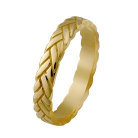 טבעת קלועה רומנטית לכלה
