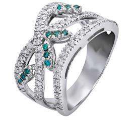 טבעת אירוסין יהלומים ואמרלד