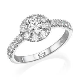 טבעת אירוסין יהלום מרכזי גדול