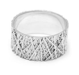 טבעת נישואין פסים לא סדורים