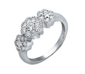 טבעת אירוסין פרחונית