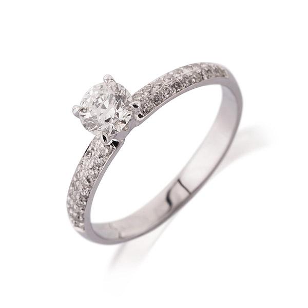 טבעת אירוסין זהב לבן אטרניטי