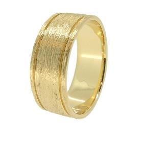 טבעת רחבה בעיצוב מחוספס
