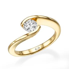 טבעת מעוקלת בסגנון מודרני