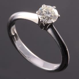 טבעת אירוסין צרה יהלום עדין