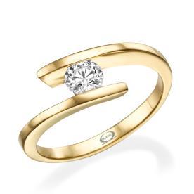 טבעת אירוסין בעיצוב עכשוווי