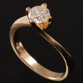 טבעת אירוסין זהב צהוב עבה
