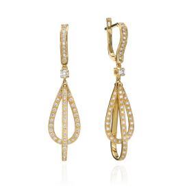 עגילי יהלומים בסגנון אלגנטי