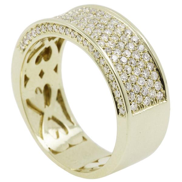 טבעת אירוסין זהב עם הטבעת לב