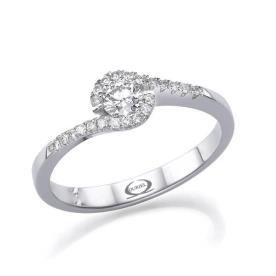 טבעת אירוסין שיבוץ יהלומים סיבובי