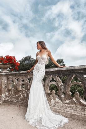 שמלת כלה צמודה אלגנטית לכלה