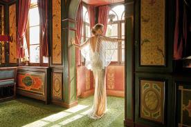 שמלת כלה עליונית שיפון