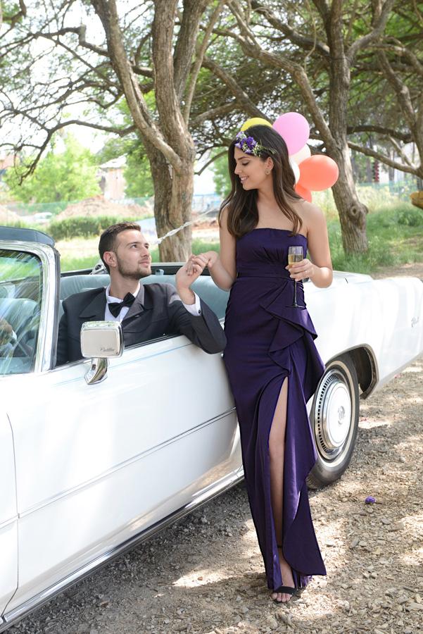 שמלת ערב סטרפלס